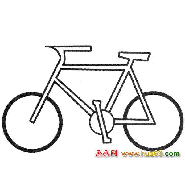 简笔画 简单自行车3高清图片