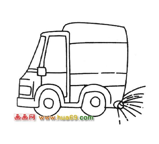 垃圾清扫车简笔画,画画网