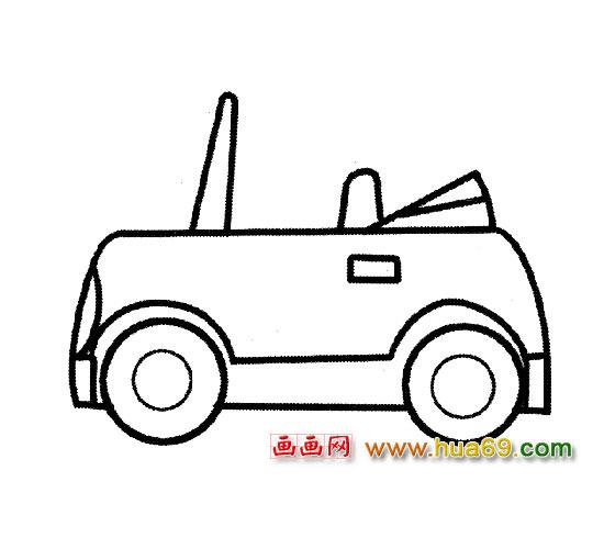 3儿童画频道 卡通小汽车交通工具简笔画作品分享图片