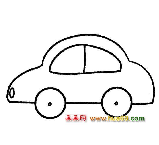 简笔画:儿童坐的小汽车3