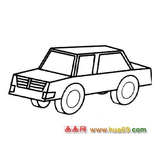 交通工具简笔画:小汽车3