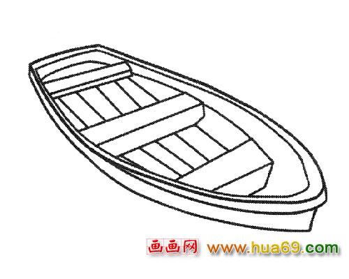 简笔画图片   游览型小木船矢量图矢量图