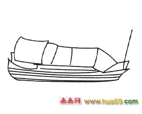 乌篷船简笔画_乌篷船画_乌篷船logo