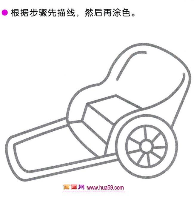 幼儿简笔画图解教程 小小人力车
