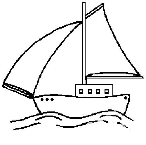 帆船的简笔画图片下载