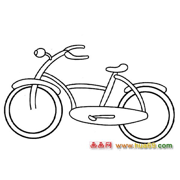儿童自行车简笔画图片下载