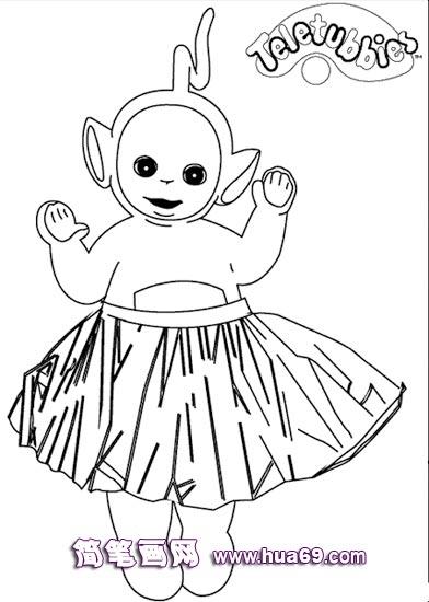 穿裙子天线宝宝简笔画