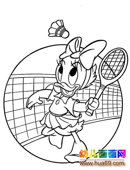 打羽毛球怎么画简笔画