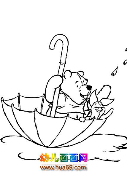 卡通简笔画 小熊维尼