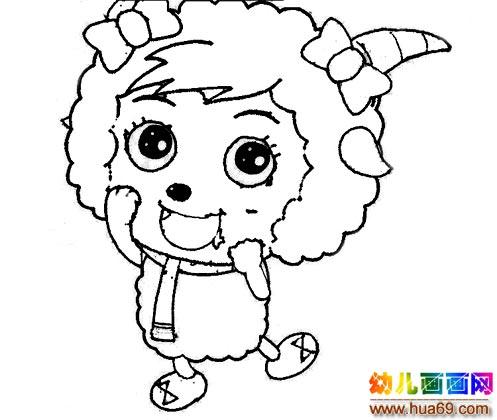 喜羊羊简笔画:小灰灰