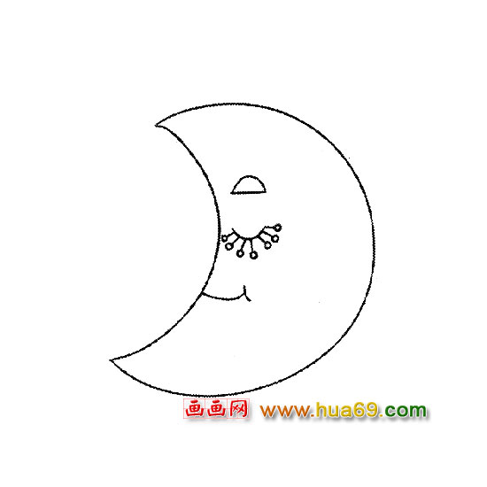 贪睡的月亮【简笔画】3 -贪睡的月亮 3