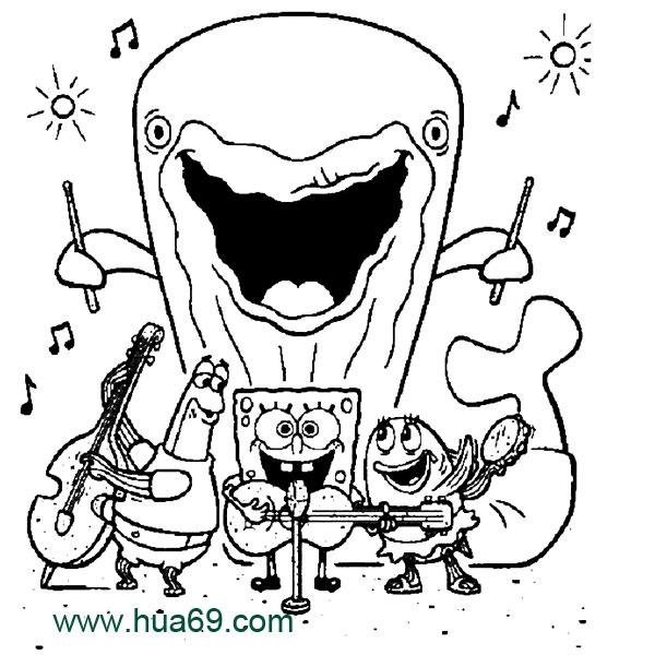 卡通简笔画:海绵宝宝和朋友5