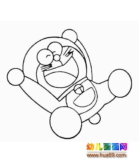 飞翔的机器猫 儿童卡通简笔画图片