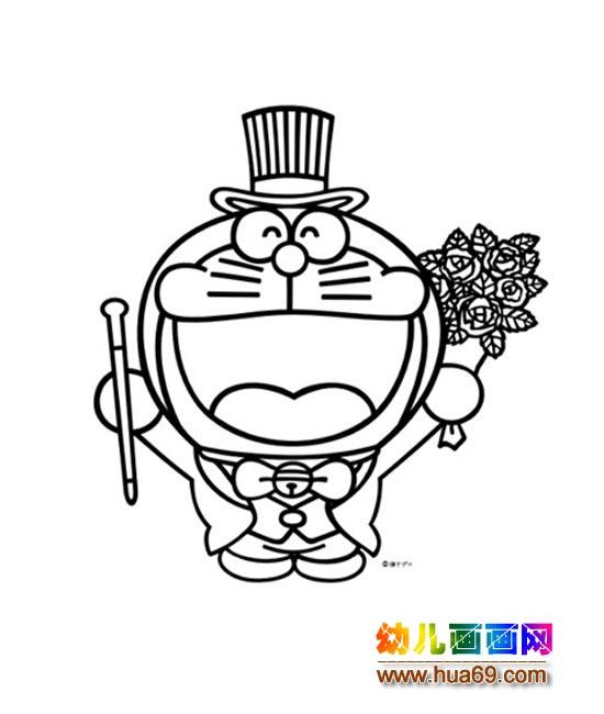 可爱的大头机器猫_儿童卡通简笔画图片2