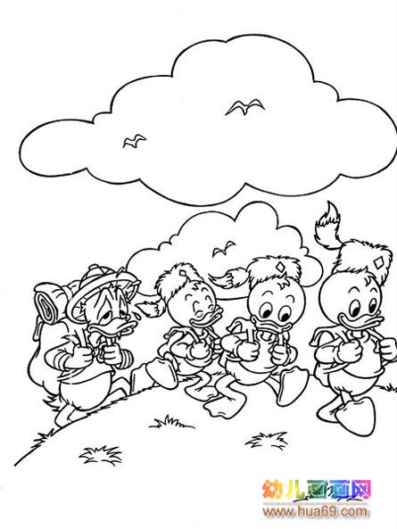 唐老鸭去旅行_儿童卡通简笔画图片