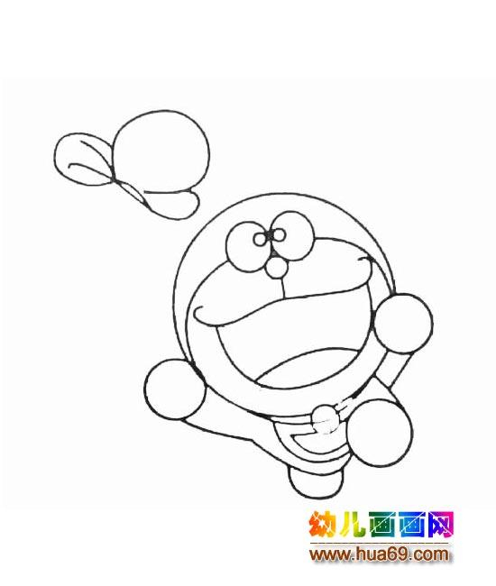 机器猫简笔画教程 哆啦a梦简笔画画法