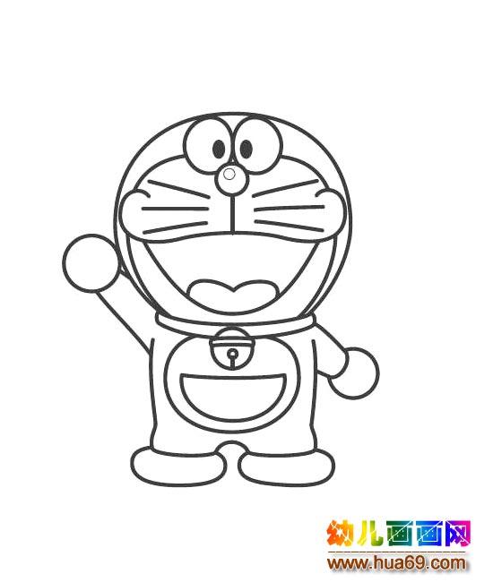可爱的哆啦a梦(儿童简笔画)