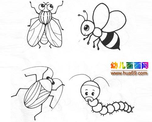小蜜蜂简笔画图片大全 小蜜蜂简笔画大全大图 蜜蜂简笔画图片大全