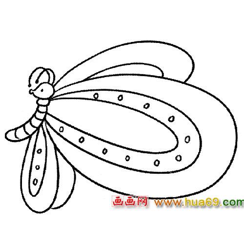 简笔画 有斑点的蝶2
