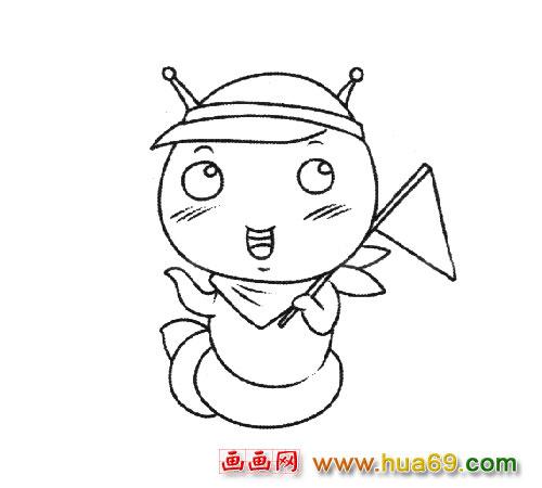 小女孩拿着一伞的图片简笔画动画版龙猫求萌萌哒简笔画画法.