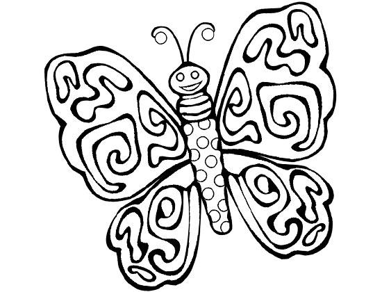 儿童简笔画蝴蝶,美丽的花蝴蝶简笔画图片 6