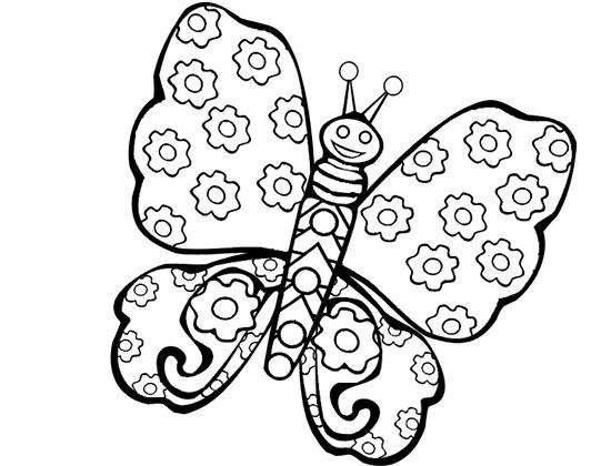 漂亮的花蝴蝶 怎样画昆虫简笔画