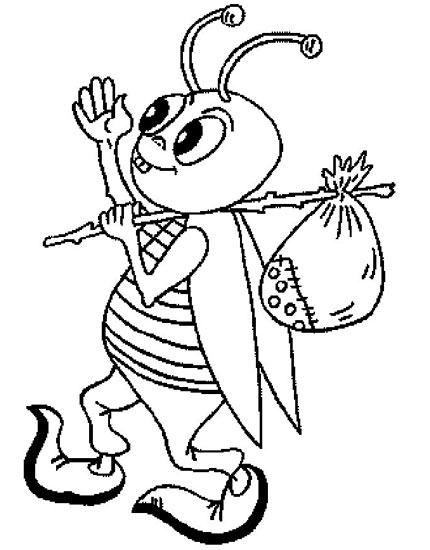 可爱的小蚂蚁_幼儿简笔画画法2