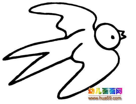 简笔画:小燕子,画画网