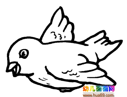 飞翔的画眉鸟简笔画