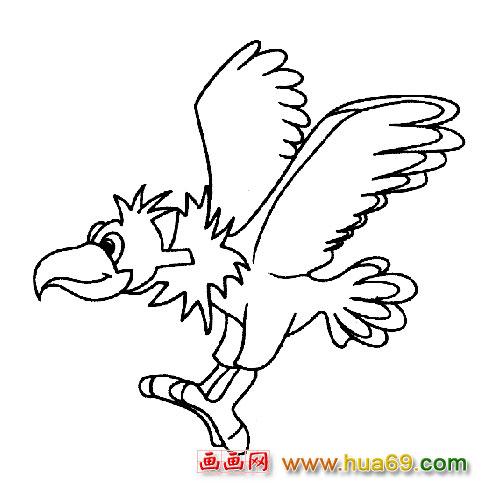 飞翔的鹰简笔画_鹰的简笔画