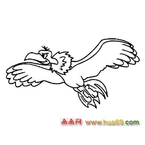 简笔画 老鹰飞翔2