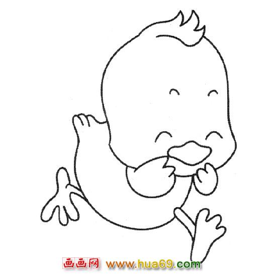 鸭子简笔画 卡通小鸭子简笔画