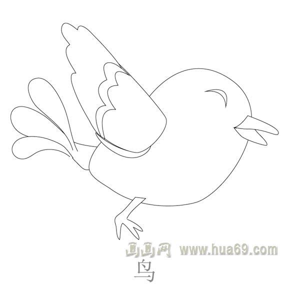 飞翔的鸟儿简笔画 白鹤飞翔简笔画