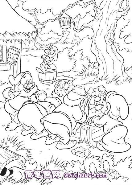 七个小矮人简笔画