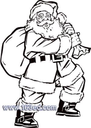 圣诞老人简笔画 圣诞老人的驯鹿