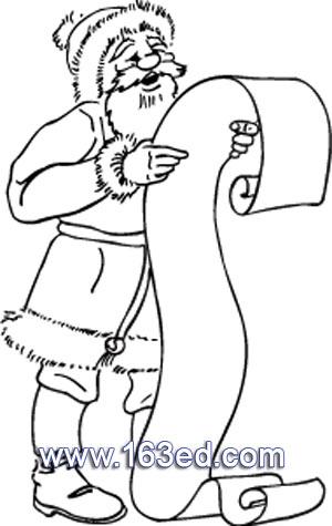 礼单的圣诞老人简笔画1