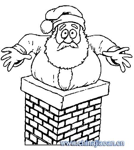 胖胖的圣诞老人简笔画