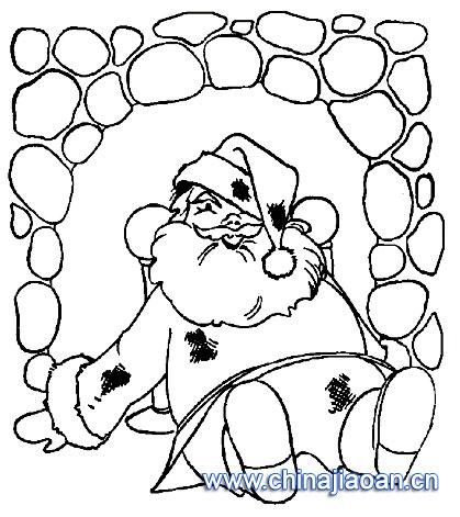 摔倒了的圣诞老人简笔画