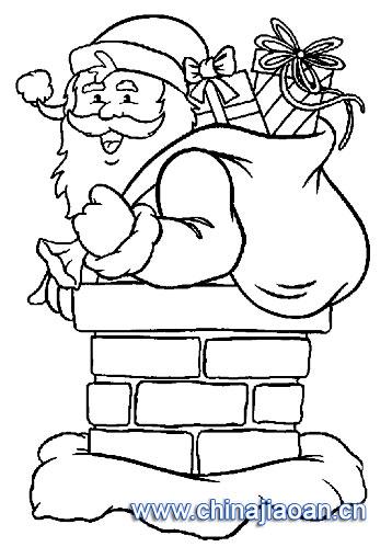 下烟卤的圣诞老人简笔画