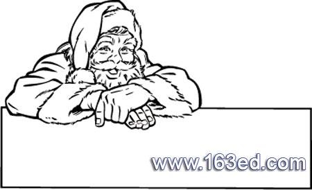 笑眯眯的圣诞老人简笔画
