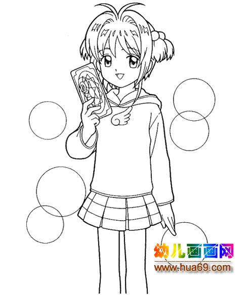 可爱小女孩简笔画5,画画网