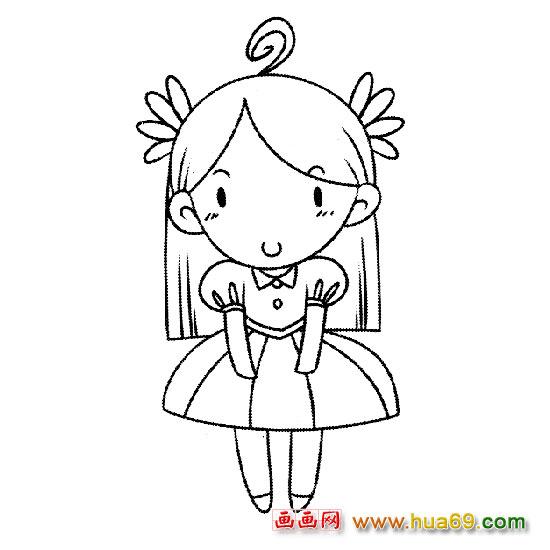 漂亮公主 人物简笔画