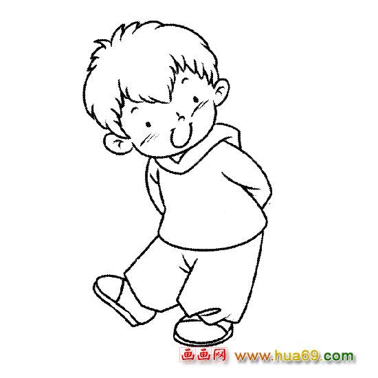 人物简笔画:跳舞的小男孩