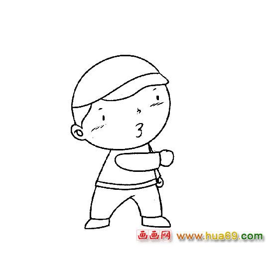 小男孩简笔画 超萌的小孩
