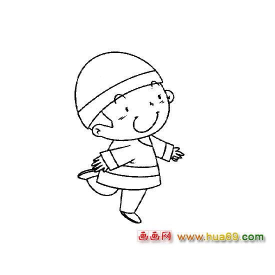 人物简笔画 跳舞的小男孩1
