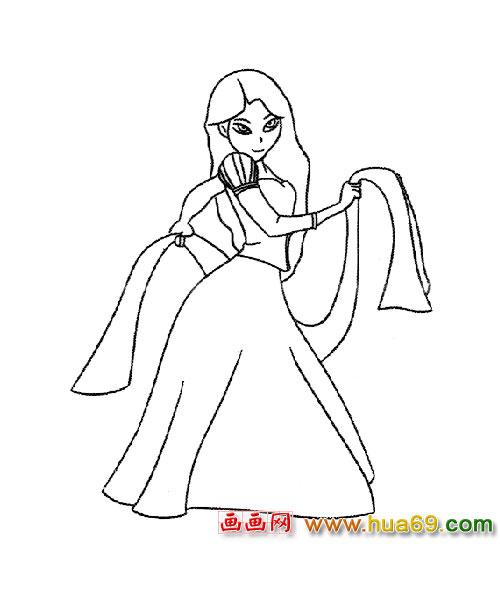 人物简笔画 跳舞的公主