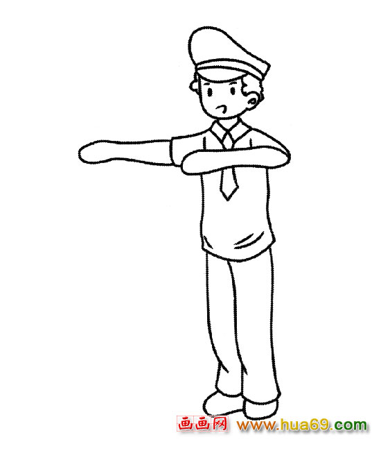 简笔画 交通警察1
