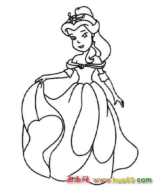 简笔画:可爱的小公主2