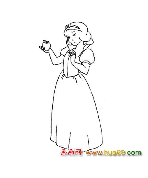 物简笔画 白雪公主1