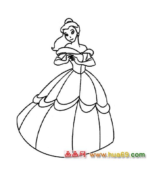 简笔画 跳舞的公主2